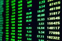 Pris för handel för börsmarknad royaltyfria foton