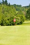 Pris på en miljon euro, en golfbana Arkivfoton