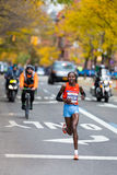 Priscah Jeptoo (Kenya) runs and wins the 2013 NYC  Royalty Free Stock Photo