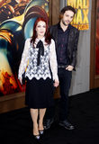 Priscilla Presley and Navarone Garibaldi Stock Images