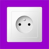 Prise électrique blanche Photos stock