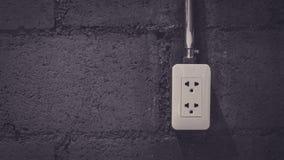 Prise électrique industrielle sur le dispositif photo stock