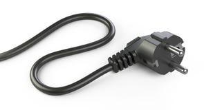 Prise électrique noire avec le câble Photos libres de droits