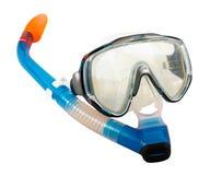 prise d'air de masque de plongée Photographie stock libre de droits