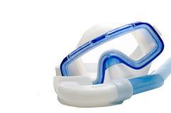 Prise d'air et masque de plongée Image libre de droits