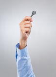 Prise d'homme avec la clé Photos libres de droits