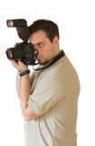 Prise d'une photographie Photographie stock