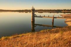 Prise de barrage au lever de soleil Image stock