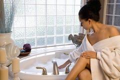prise de bulle de bain Photo stock