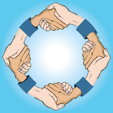Prise de contact circulaire Image libre de droits