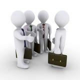 Prise de contact d'offre de trois hommes d'affaires Images stock