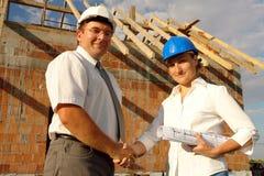 Prise de contact de construction photos libres de droits