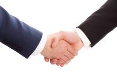 Prise de contact de deux hommes d'affaires Image libre de droits