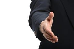 Prise de contact de offre d'homme d'affaires Image stock
