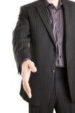 Prise de contact de offre d'homme d'affaires occasionnel photos stock
