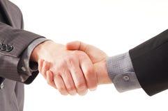 Prise de contact entre deux personnes d'affaires Photos stock