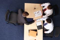 prise de contact, entrevue d'emploi Image stock