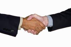 Prise de contact interraciale d'affaires Image stock