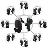 Prise de contact - réseau d'affaires Images stock