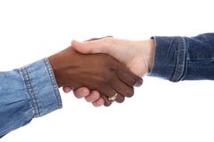 Prise de contact - racial multi Photo libre de droits