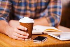 Prise de du temps pour la pause-café Image libre de droits
