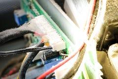 Prise de fil dans le matériel électrique Photo libre de droits