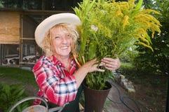 Prise de jardinier par groupe Image libre de droits
