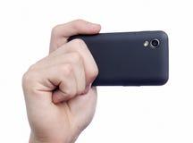 Prise de la photo avec le téléphone intelligent Photo stock