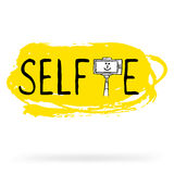 Prise de la photo de Selfie au téléphone intelligent illustration stock