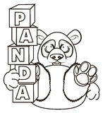 Prise de panda de coloration blocs illustration stock