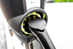 Prise de remplissage de voiture électrique d'EVBOX, photographie stock libre de droits
