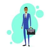 Prise de sourire d'African American Race d'homme d'affaires illustration libre de droits