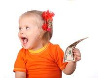 prise de sourire d'orange en provenance de la zone dollar de chéri photographie stock