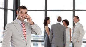 prise de téléphone d'homme d'affaires Photos libres de droits
