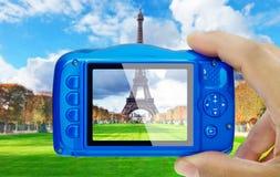 Prise de Tour Eiffel Paris POV de photo photographie stock