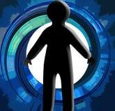 Prise des décisions/silhouette Image libre de droits