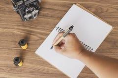 Prise des notes de la photographie image libre de droits