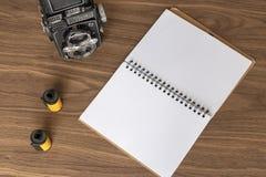 Prise des notes de la photographie photos stock