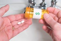 Prise du médicament Photographie stock