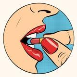 Prise du médicament de pilule illustration de vecteur