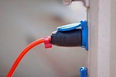 Prise et corde de courant électrique Image libre de droits