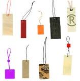 Prise las escrituras de la etiqueta aisladas en blanco Imagenes de archivo