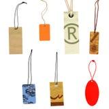 Prise las escrituras de la etiqueta aisladas en blanco Imagen de archivo libre de regalías