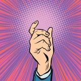 Prise masculine de main de geste Photographie stock libre de droits