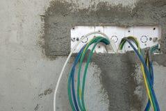 Prise non finie de câble électrique Photos stock