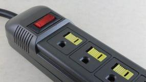 Prise pour différents dispositifs électriques photographie stock