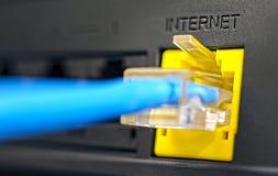 Prise pour la connexion internet Photos stock
