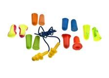 Prises colorées d'oreille photo stock