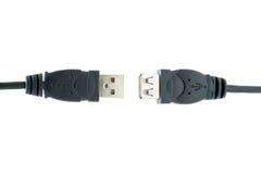 Prises d'USB d'isolement sur un fond blanc photographie stock libre de droits