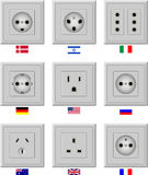 Prises de courant alternatif Images libres de droits